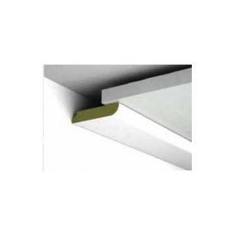Platte plint Pleister wit 46x8x2600 mm