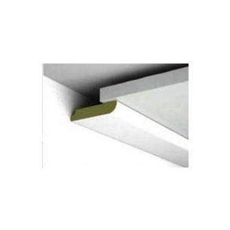 Platte plint Wit houtnerf 46x8x2600 mm