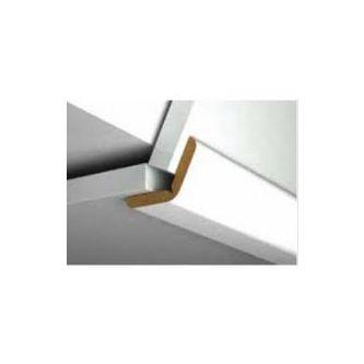 Knikplint Ivoor - creme 26x26x4x2700 mm