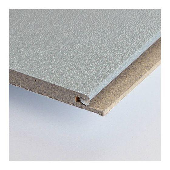 HDF plafond metallic/alu geborsteld