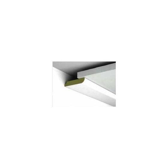 Platte plint Parel wit 46x8x2600 mm